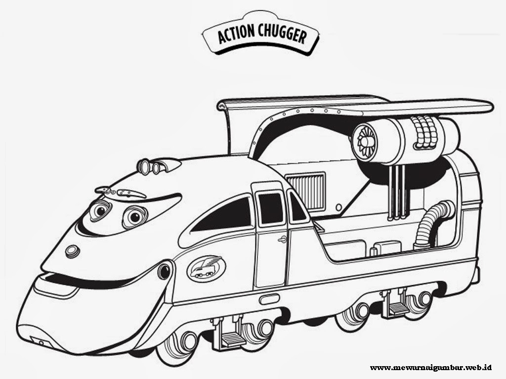 Gambar mewarnai kereta chuggington mewarnai gambar for Disney chuggington coloring pages