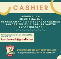 Lowongan Kerja di Kartiko Heritage Restaurant Surabaya Februari 2021