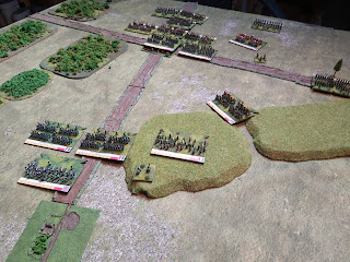 French reinforcements begin their advance up the Brussels road