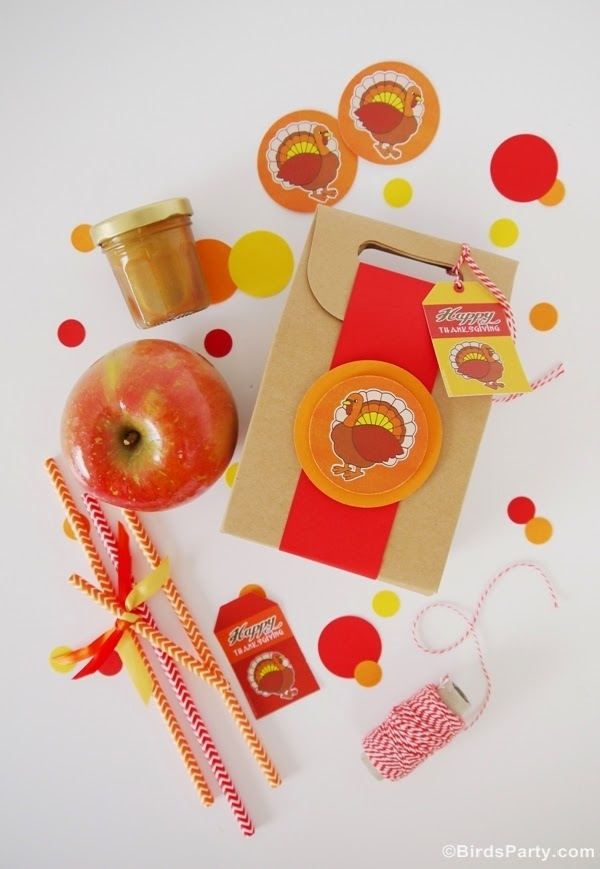 Salted Caramel Apple Favors & Recipe - BirdsParty.com