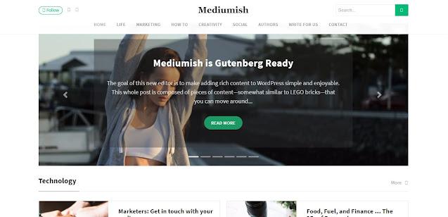 Download Theme Mediumish Wordpress (100% Original)