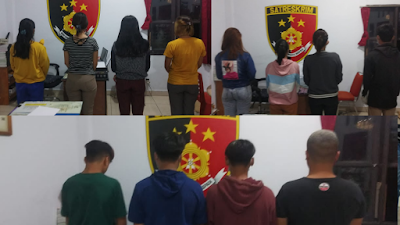 16 Orang Terduga Pelaku Penggelapan Di Mini Market Sejahtera Terancam 4 Tahun Penjara