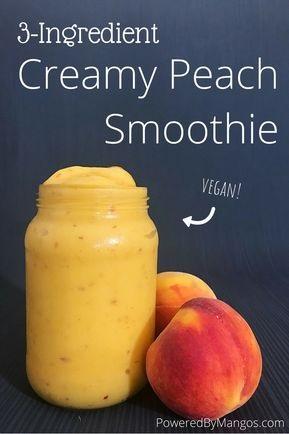 3-Ingredient Creamy Peach Smoothie