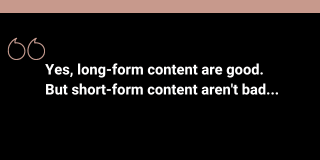 Short vs long form content and SEO