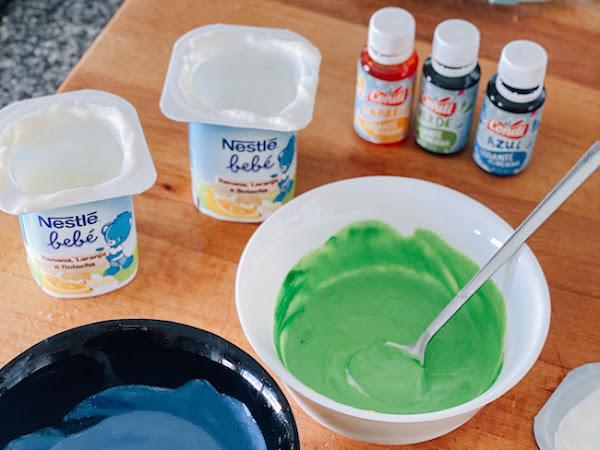 O nosso bebé: Tinta comestível