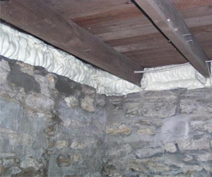 Air sealed/insulated rim joists in basement