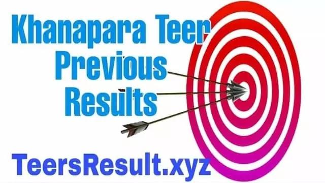 Khanapara  Teer Previous Result List