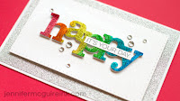 Glitter die cuts - video - Jennifer McGuire