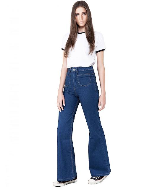 Ideias de look simples com calça pantalona jeans