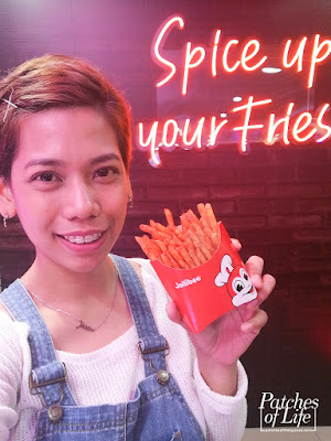with my large Jollibee Crispy Spice Fries