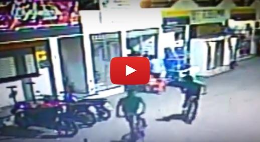 Sobral violenta: Bandidos atiram em frentista a queima-roupa em assalto (Vídeo)