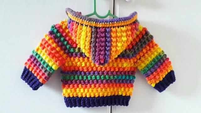 Tutorial Abrigo con Capucha para Pequeñines a Crochet Todas las Tallas