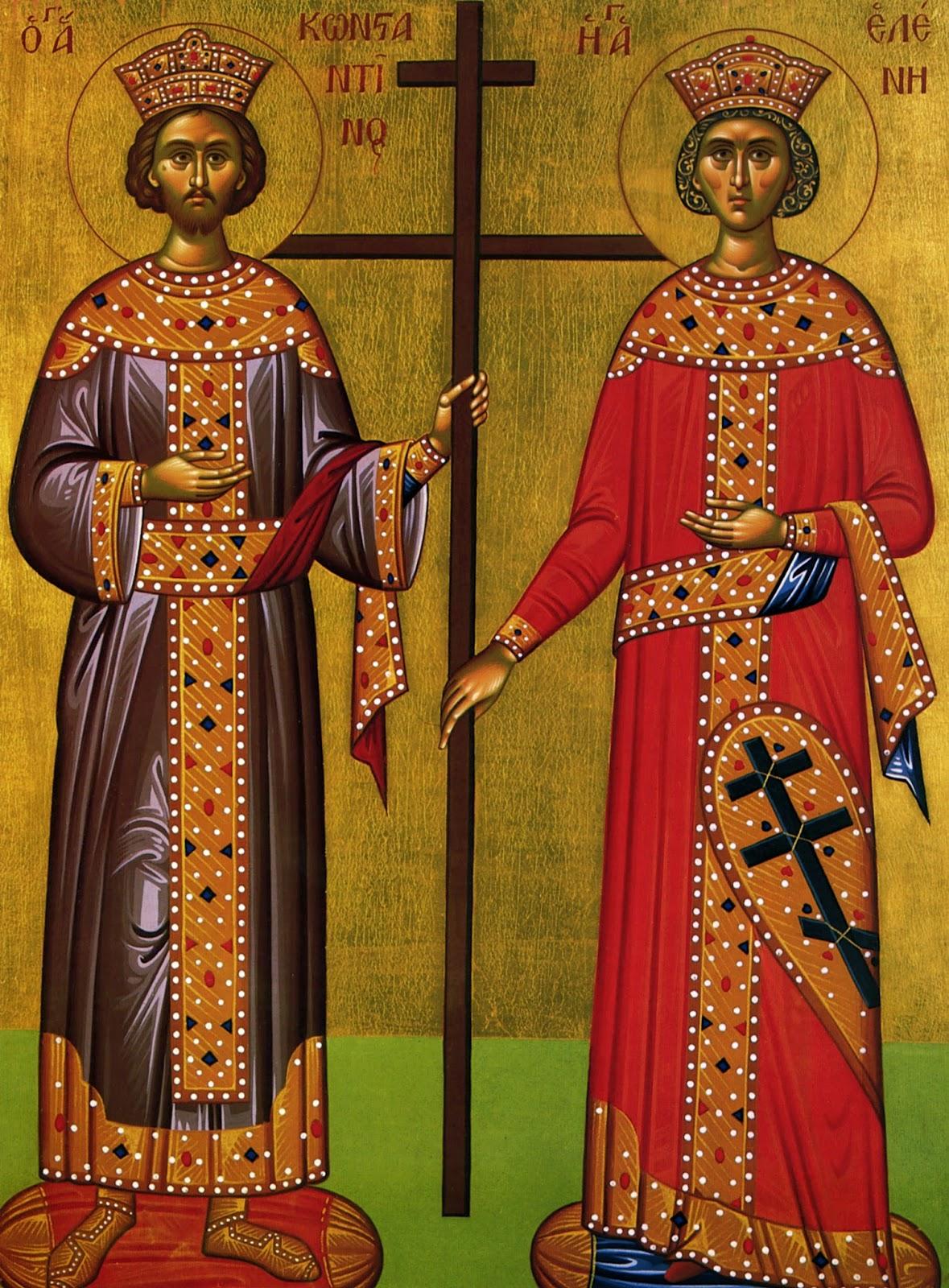 Αποτέλεσμα εικόνας για Άγιοι Κωνσταντίνος και Ελένη οι Ισαπόστολοι