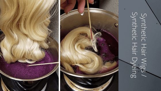 Here's how to Color a Synthetic Wig & Synthetic Hair