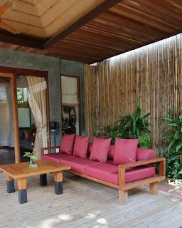 Il giardino della villa all'hotel Tango Luxe