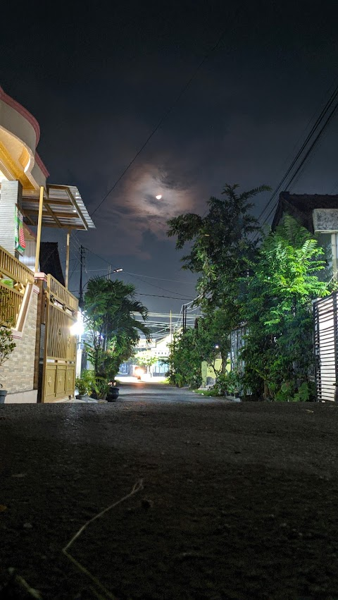 Pemandangan bulan dimalam hari | Moon at night