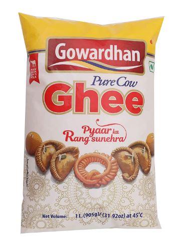 Gowardhan Cow Ghee - Pure. 1 Litre