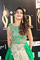 Manjusha in Beautiful Sleeveless Green Anarkali dress at IIFA Utsavam Awards 78.JPG
