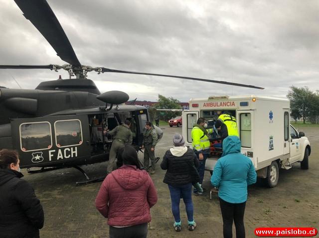 Fuerza Aérea evacua de emergencia a mujer embarazada