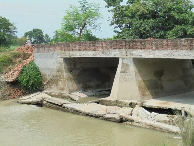 ध्वस्त दामोदरपुर पुल की अब तक विभाग ने नहीं ली सुध