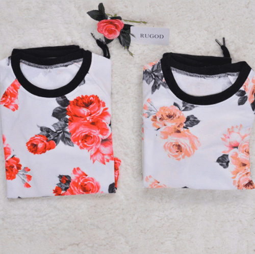 Printed Flower Sweatshirt