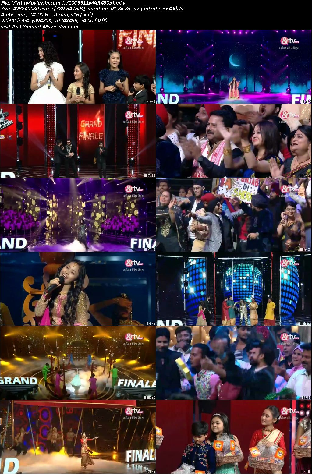 Voice India Kids S02 Grand Finale 11th Mar 2018 HD 480p TV-Rip