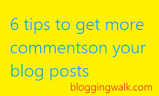 get more comments on blog posts