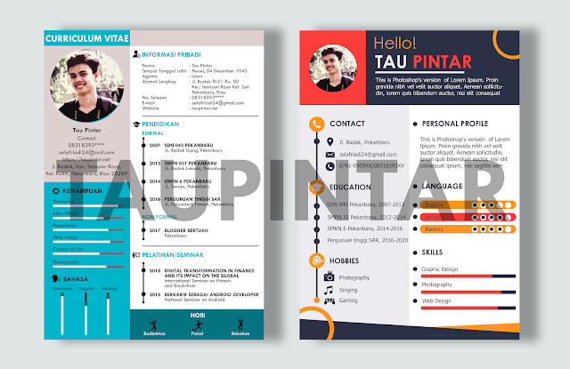 CV lamaran kerja, download CV, Download gratis