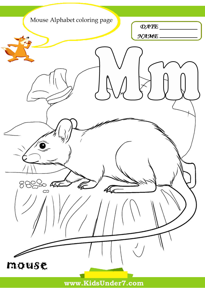 Kids under 7 letter m worksheets and coloring pages