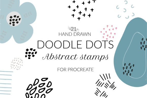 Doodle Abstract Texture Procreate Stamps 5588343
