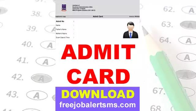 HSSC Pharmacist Written Exam Admit Card 2021