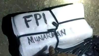 Ini Penampakan Benda Bertulisan 'Munarman FPI' yang Ditemukan di Depok