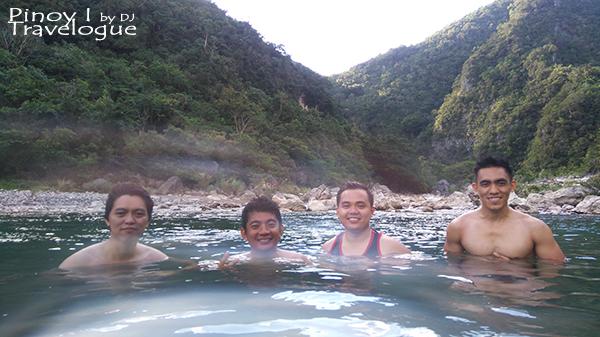 My buddies taking a plunge at Tinipak River