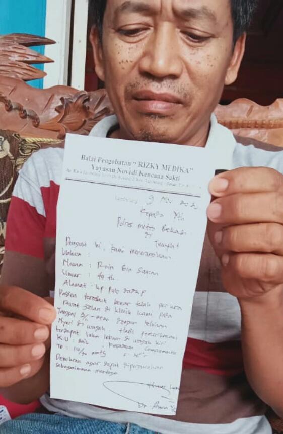 Hingga Kini Belum Ada Kejelasan, Korban Penganiayaan Oleh Oknum Kades Srimahi Bakal Lapor Ke Mabes Polri