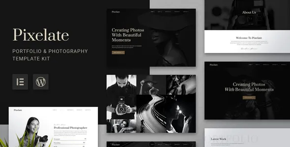 Best Portfolio & Photography Elementor Template Kit