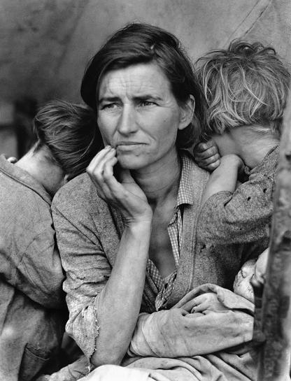 Una delle foto più emblematiche della Grande Depressione