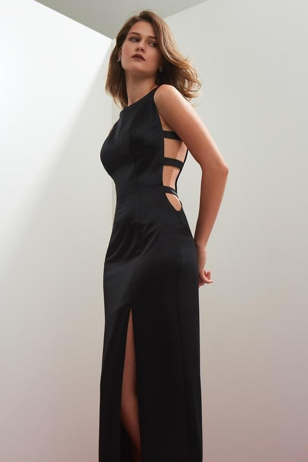 vestido longo preto para convidada