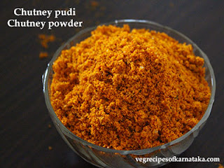 Chutney pudi recipe in Kannada
