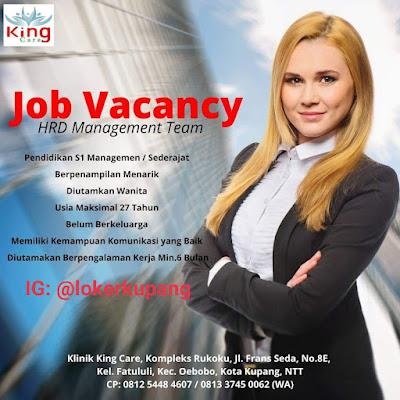 Lowongan Kerja Klinik King Care Sebagai HRD Management Team