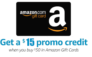 Free $15 Amazon Credit When You Buy a $50 Amazon Gift Card