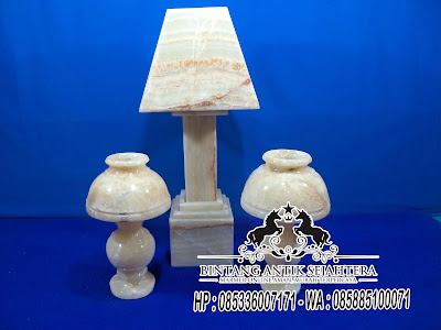 Lampu Onix, Lampu Meja Onyx, Kerajinan Marmer Tulungagung