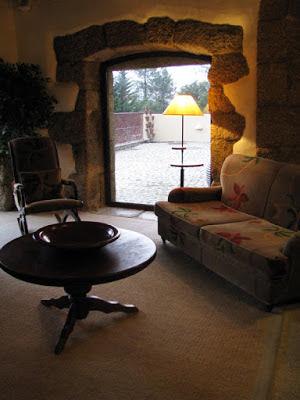 área de descanso na Pousada do Convento em Belmonte
