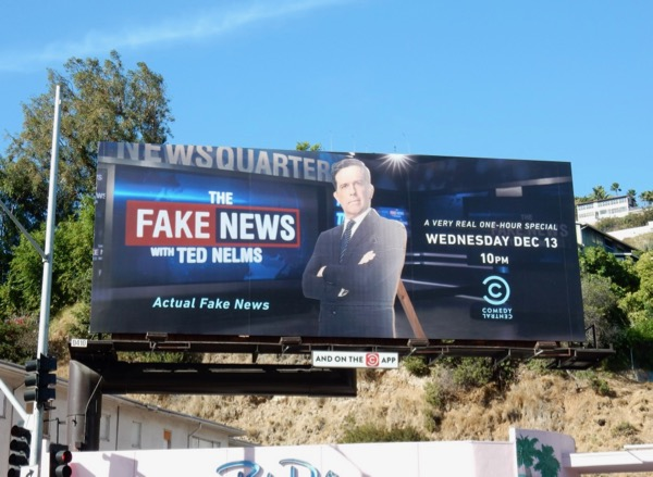 Fake News Ted Nelms billboard