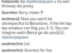 Peter Okoye trolled hard as Arsenal thrashes Chelsea 3 - 0