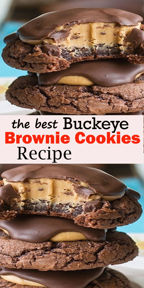 Buckeye Brownie Cookies Recipe  #Buckeye #Brownie #Cookies #Recipe  #BuckeyeBrownieCookiesRecipe