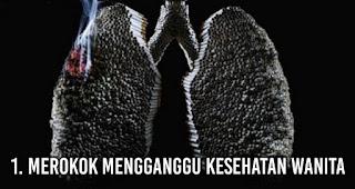 Merokok Mengganggu Kesehatan Wanita
