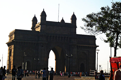 Colonial Indian architecture of Gateway of India Mumbai