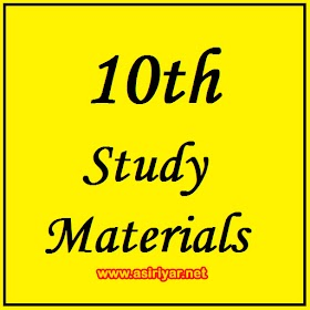 10th Study Materials - New Syllabus (From 2019)