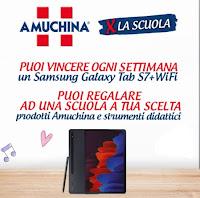 """Concorso """"Amuchina per la scuola"""" : vinci Samsung Galaxy Tab e prodotti"""