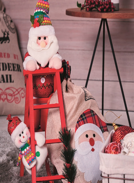 Santa and Snowman Christmas decor